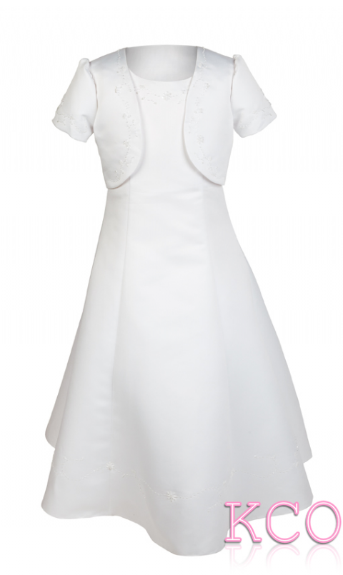 Style D3258 White~ Girls Communion Dress